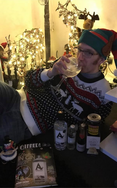 Ginstagram runner up drinking gin and tonic Arbikie from December Craft Gin Club Box
