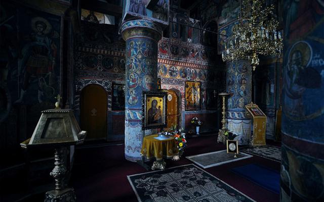 Romanian castle ornate church