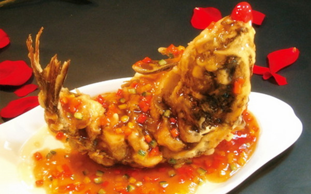 Sweet and sour carp from shangdong china