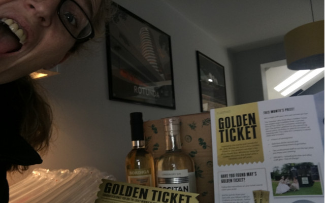 Golden Ticket winner of May with GINNED magazine