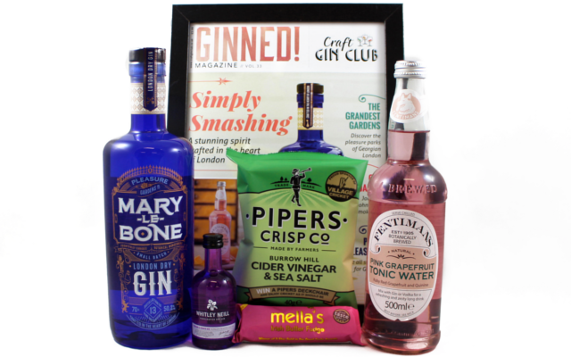July Gin of the Month Marylebone Gin Box Contents