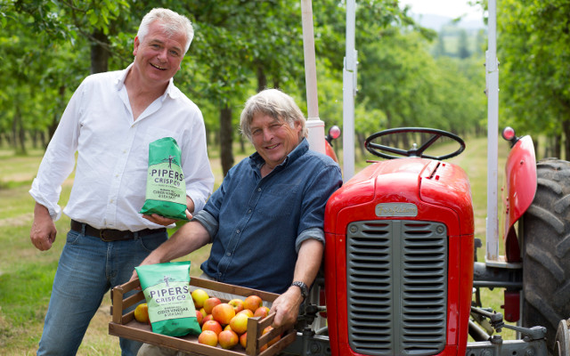 Pipers founders on tractor in orchard