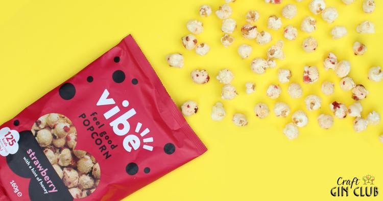 Feel good Vibe popcorn indulge snack