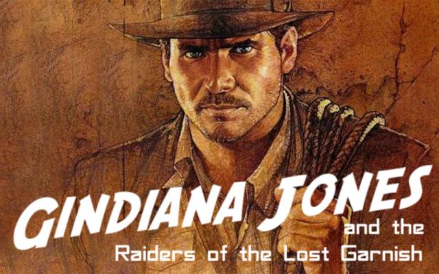 Indiana Jones gin parody