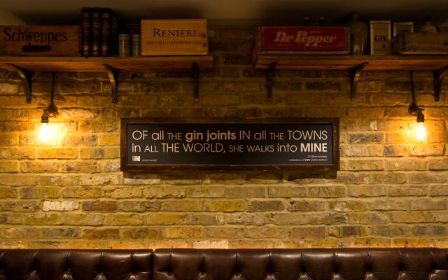 214 Bermondsey bar sign
