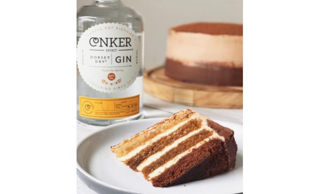 Conker gin cappuccino cake