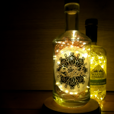 Batch Whinberry Gin bottle fairy lights decoration