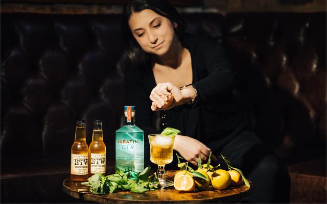 Clementine cocktail Sabatini Gin