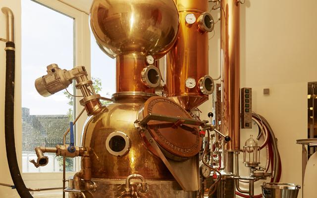Copper still at Stone Grange Craft Distillery