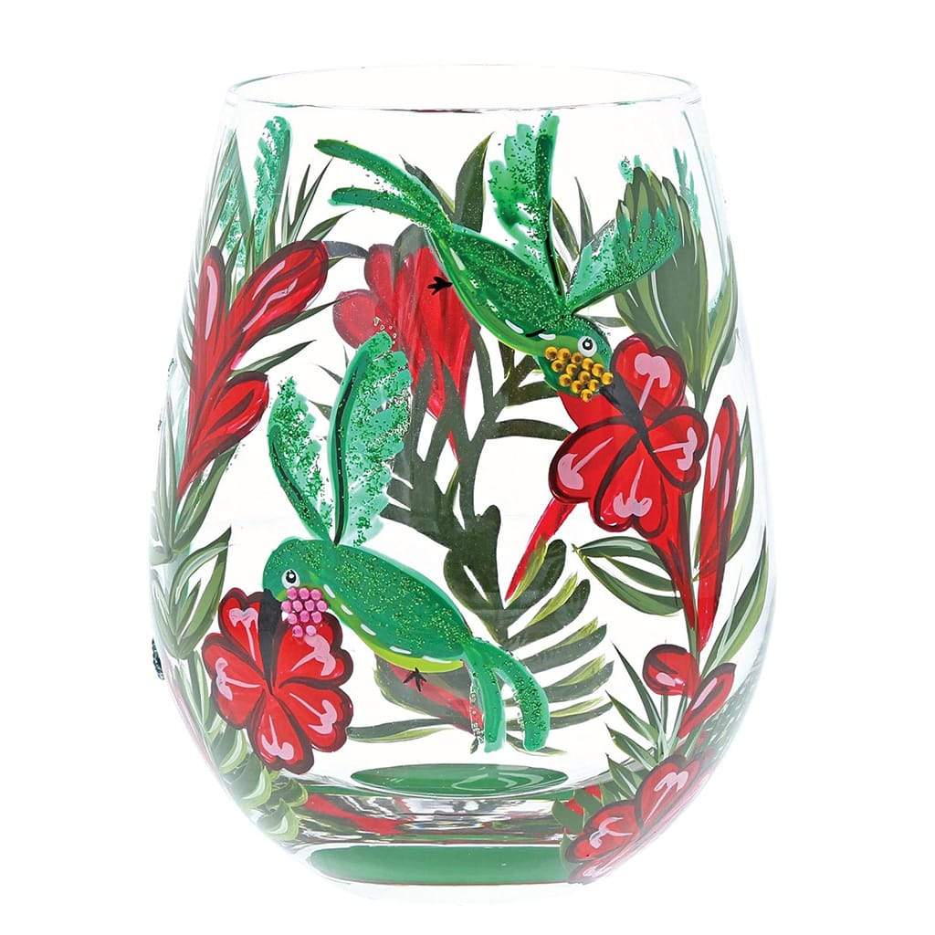 Tropical Hand Painted Gin Glasses