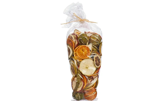 Dried lime and orange christmas garland