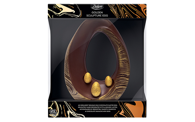 Lidl Golden Scuplture Ginsecco Gin Prosecco Milk Chocolate Easter Egg.jpg