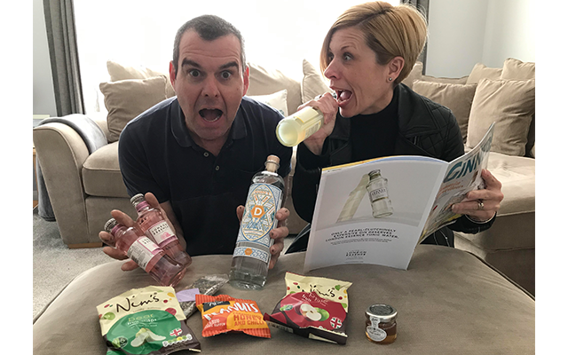 Rob S. and his wife, Sarah, were VERY excited to receive April's Gin of the Month box! Weren't we all!