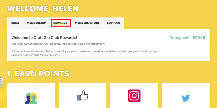 rewards page