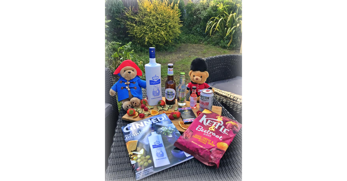 Kat went for a right royal teddy bear's picnic in her Ginstagram entry!