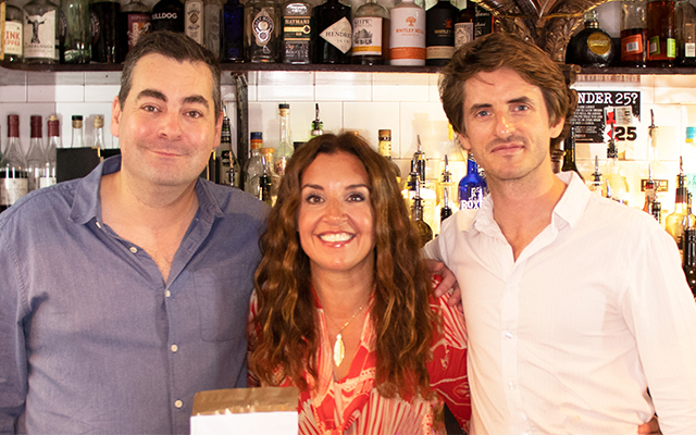 Founders Jon and John with Dragon's Den star & Craft Gin Club investor Sarah Willingham