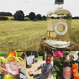 """Look closely and you'll spot the joy on @GinDolly's Grandad Dave's face when he realised he was about to enjoy a """"bleedin' fancy"""" G&T of the month!"""