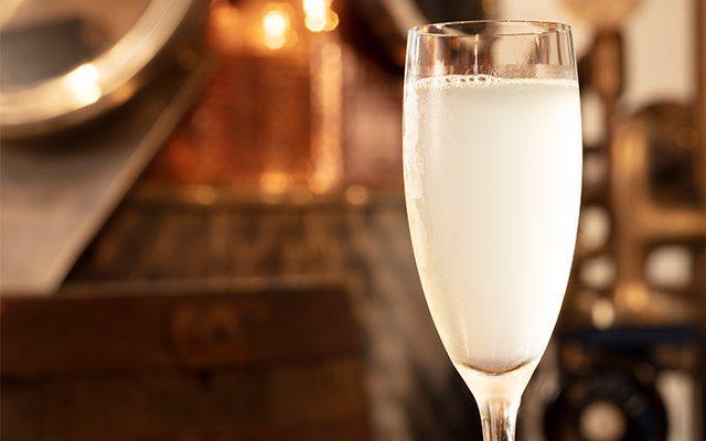 Gin and champagne are the main ingredients for a French 75