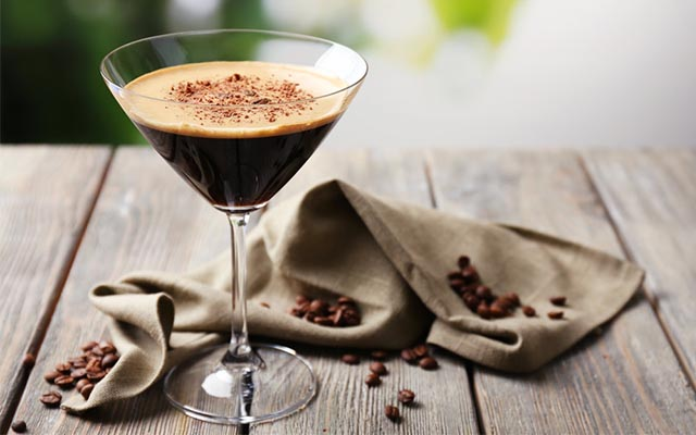 Add a little coffee liqueur to gin and espresso for an alternative espresso martini