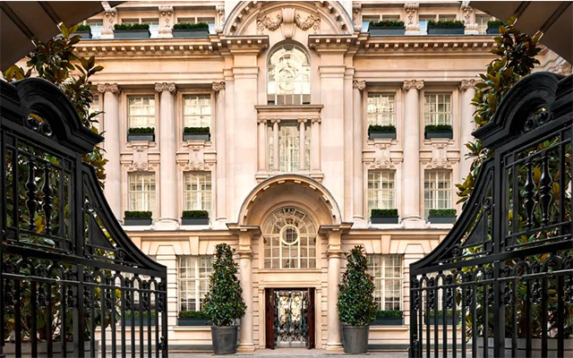 The elegant exterior of the 5-star Rosewood Hotel in London's Holborn
