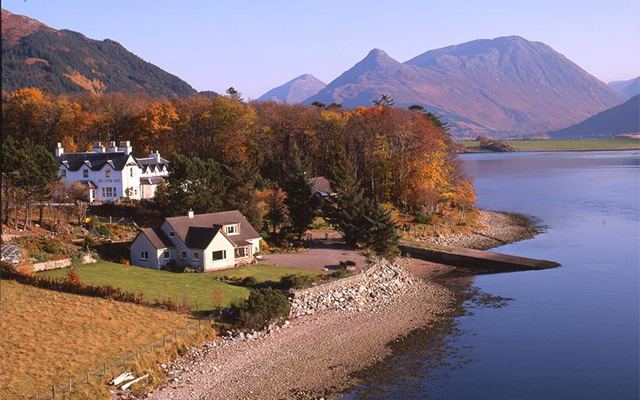 The location of the Loch Leven Hotel & Gin Distillery is simply breathtaking