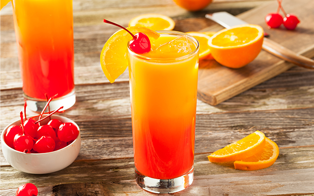 Try our ginny take on the Tequila Sunrise
