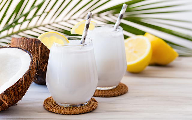 Coconut shell drinking glasses optional!