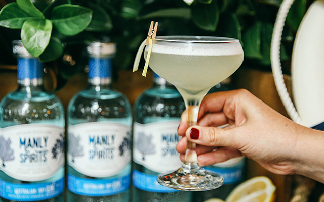 The elderflower gin sour works brilliantly with Manly Spirits Australian Dry Gin