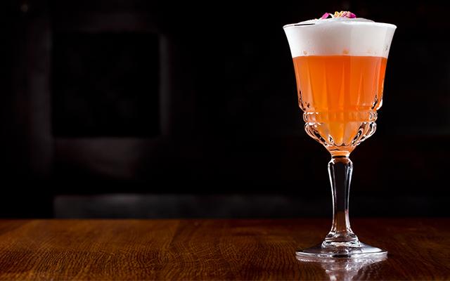 The Sloe Gin Fizz tastes as stunning as it looks