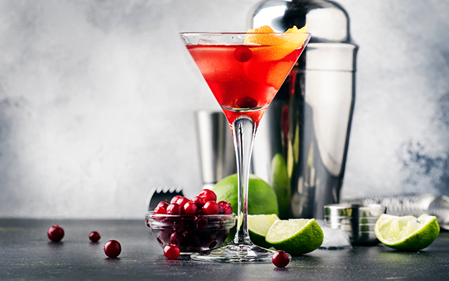 This festive cranberry & sloe gin martini will keep your spirits up as the nights draw in