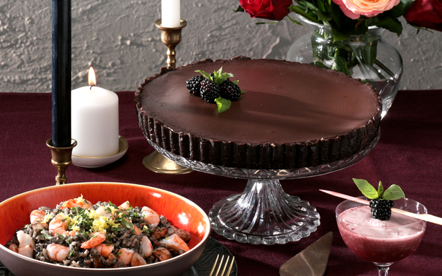 Blackberry Chocolate Tart