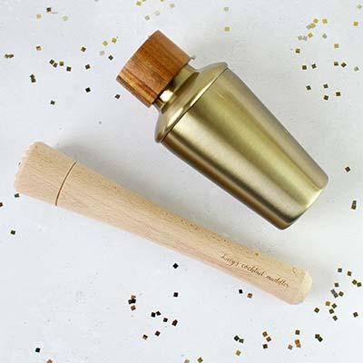 Miniature Cocktail Shaker and Personalised Muddler.jpg