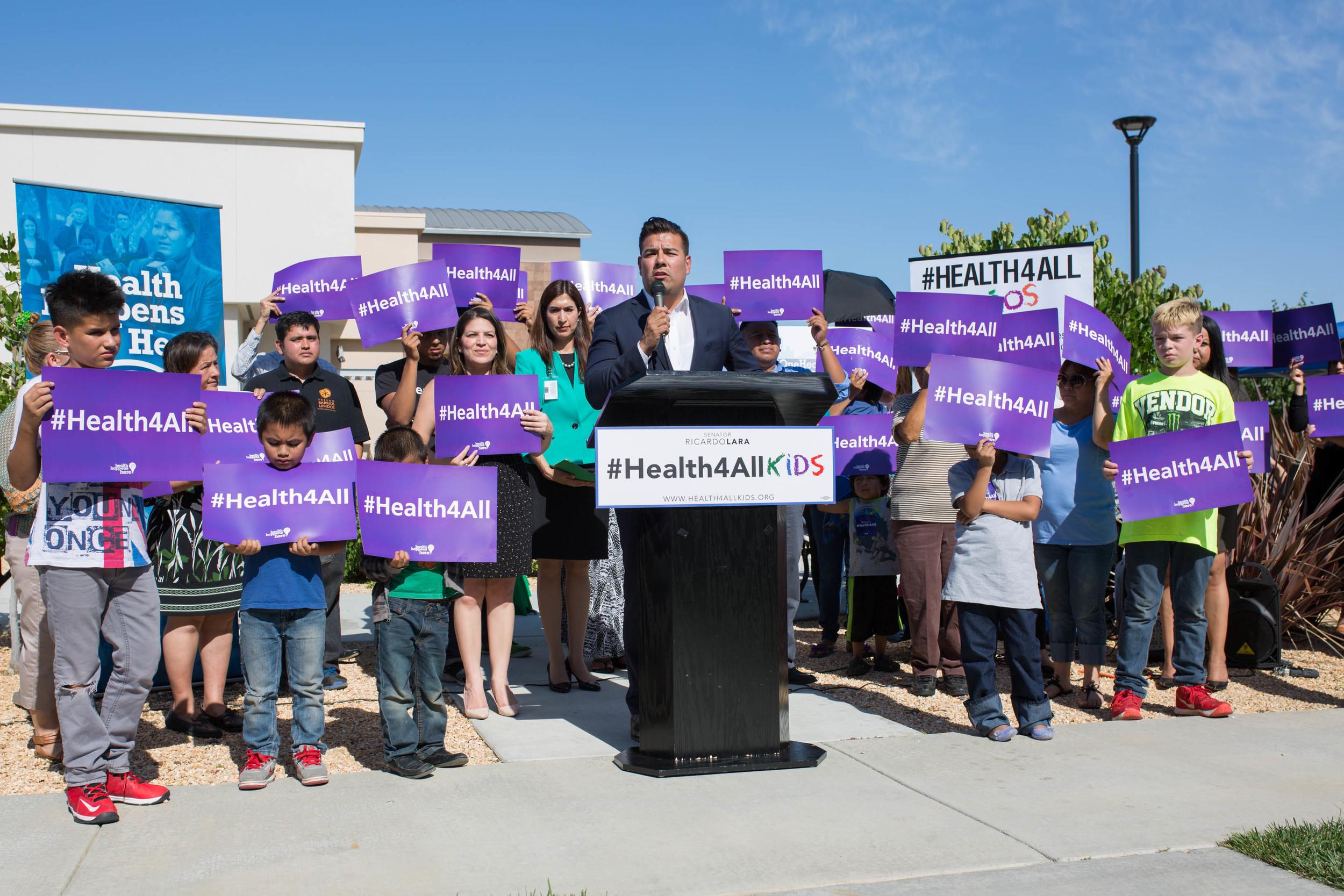 CA Senator Ricardo Lara passes #Healthforallkids bill