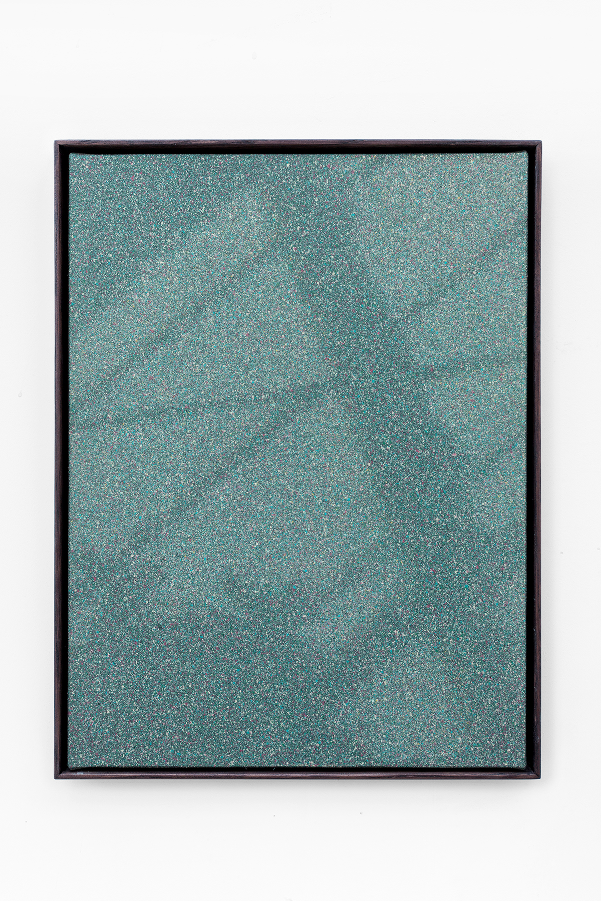 «Shadow Canvas # 40» 2017 Acrylic paint and gesso on canvas over wood panel. 42 x 32 cm with oak frame.
