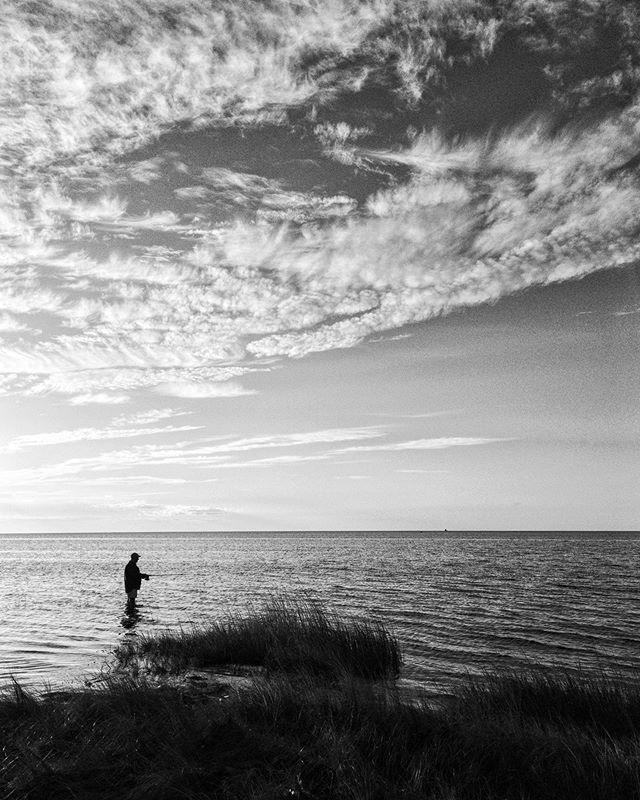A fisherman on the Pamlico Sound, Salvo, NC. #uponsand • • • • • #seascapes #pamlicosound #obx #seascape_lovers #landscape_lovers #landscapephotography #bnw_society #bnw_captures #landscapelovers #landscape_captures #landscapes #bnw_life #bw_lover #bnw_planet #monoart #bw_society #bnw_demand #bnw_globe #bnwmood #insta_bw #seascape_captures #bw_crew #igersbnw #monochromatic #seascapephotography #thought_landscape #outerbanks
