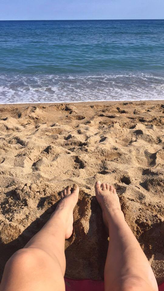 My feet in Barcelona 07/10/2016
