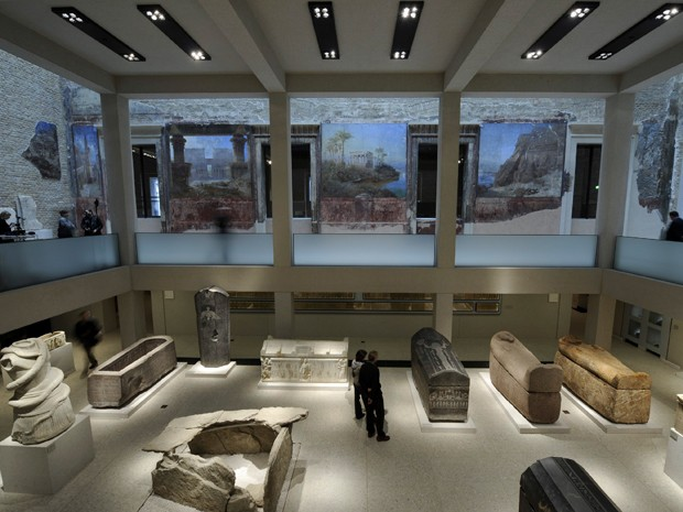 See more pictures here - or visit the Neues Museum NOW . It's absolutely worth your time and money...