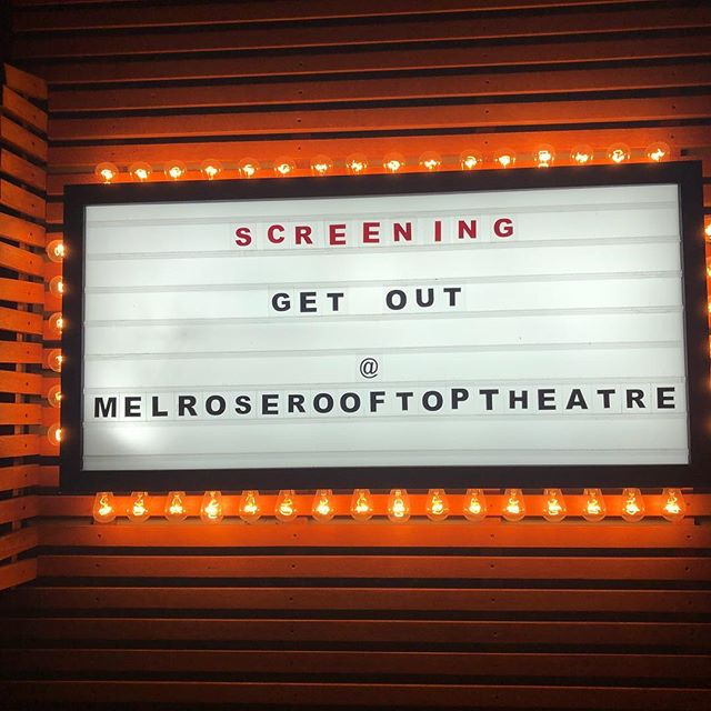 Watching Get Out with no roof or walls is safe I think 🤔 ? @melroserooftoptheatre @surkusapp