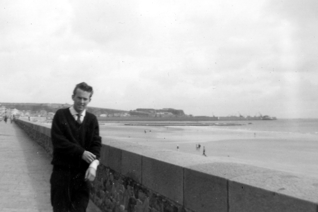Michael, Jersey harbour in background. 1961