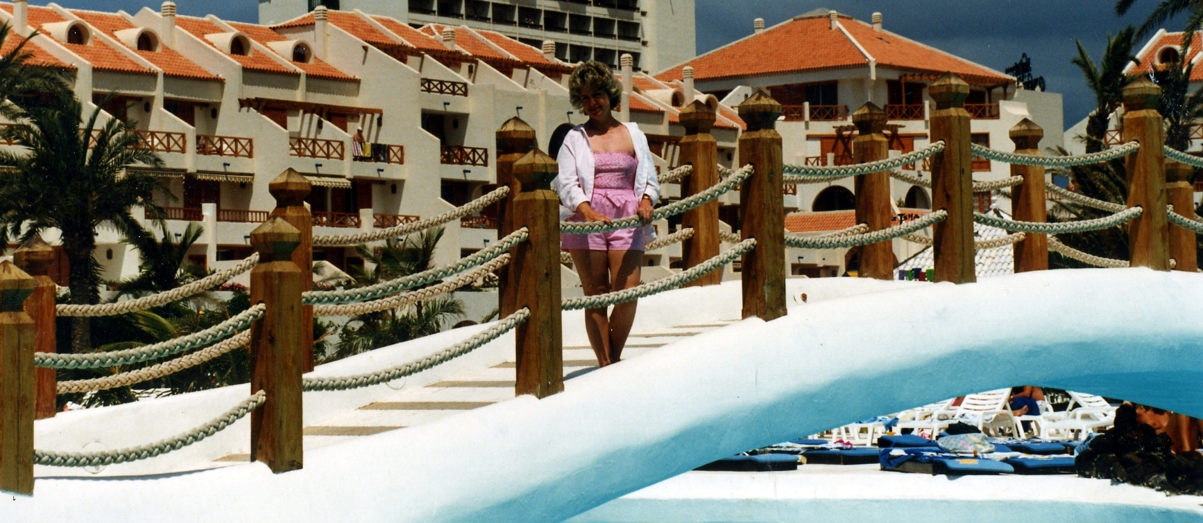 Mum: late 1980s. The big ugly block in the distance is the now-demolished Europa hotel