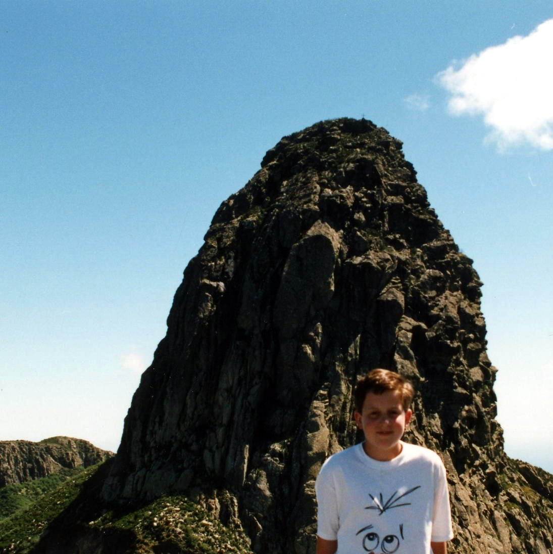 Roque de Agando - mid 1980s, rocking the Comic Relief T-shirt