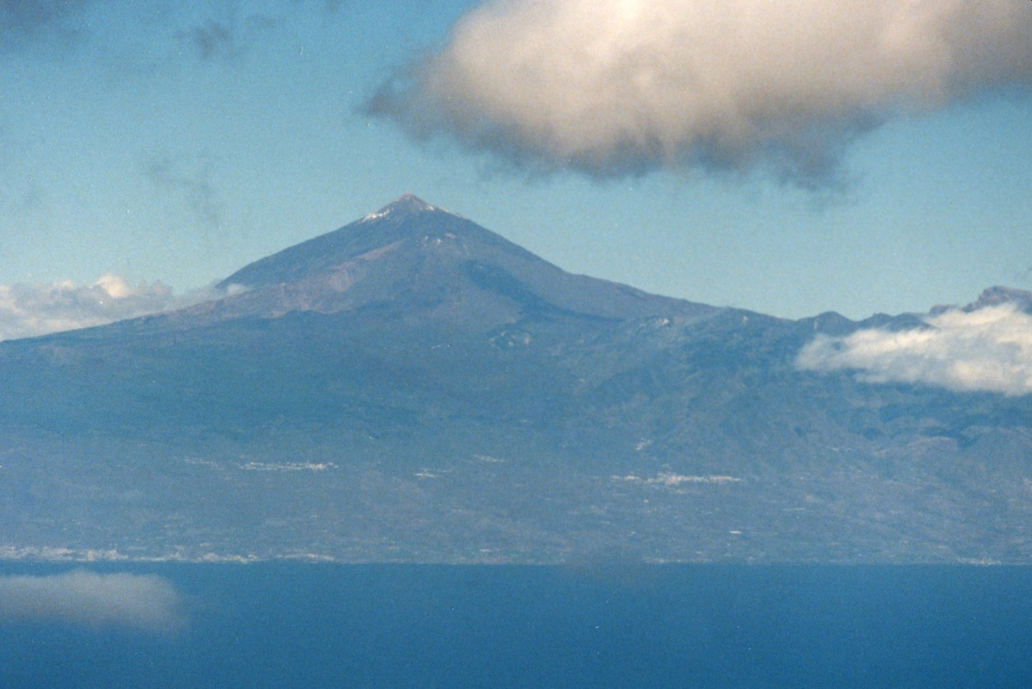 View of Tenerife from La Gomera ferry: mid 1980s