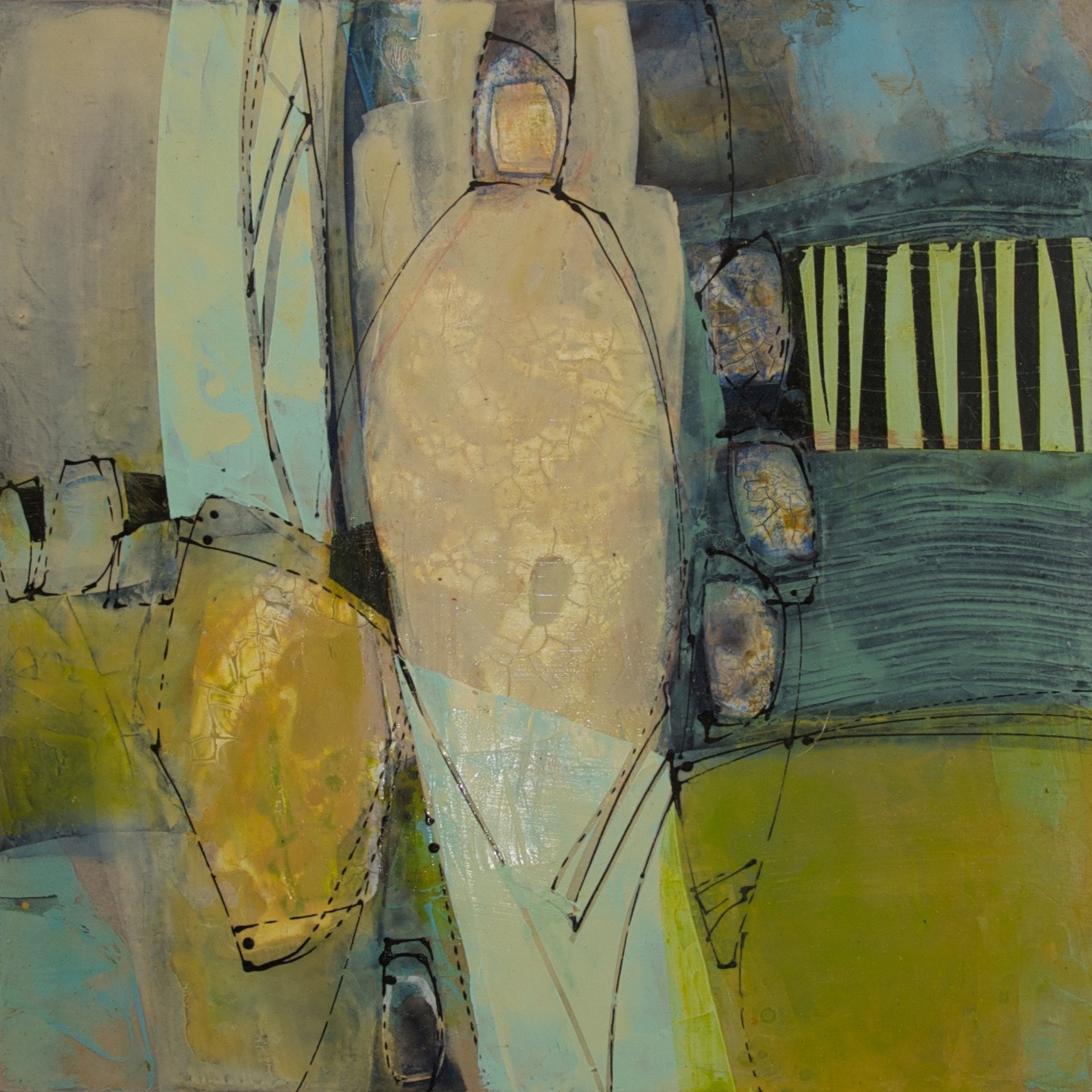 Mending Fences II - Triptych (SOLD)