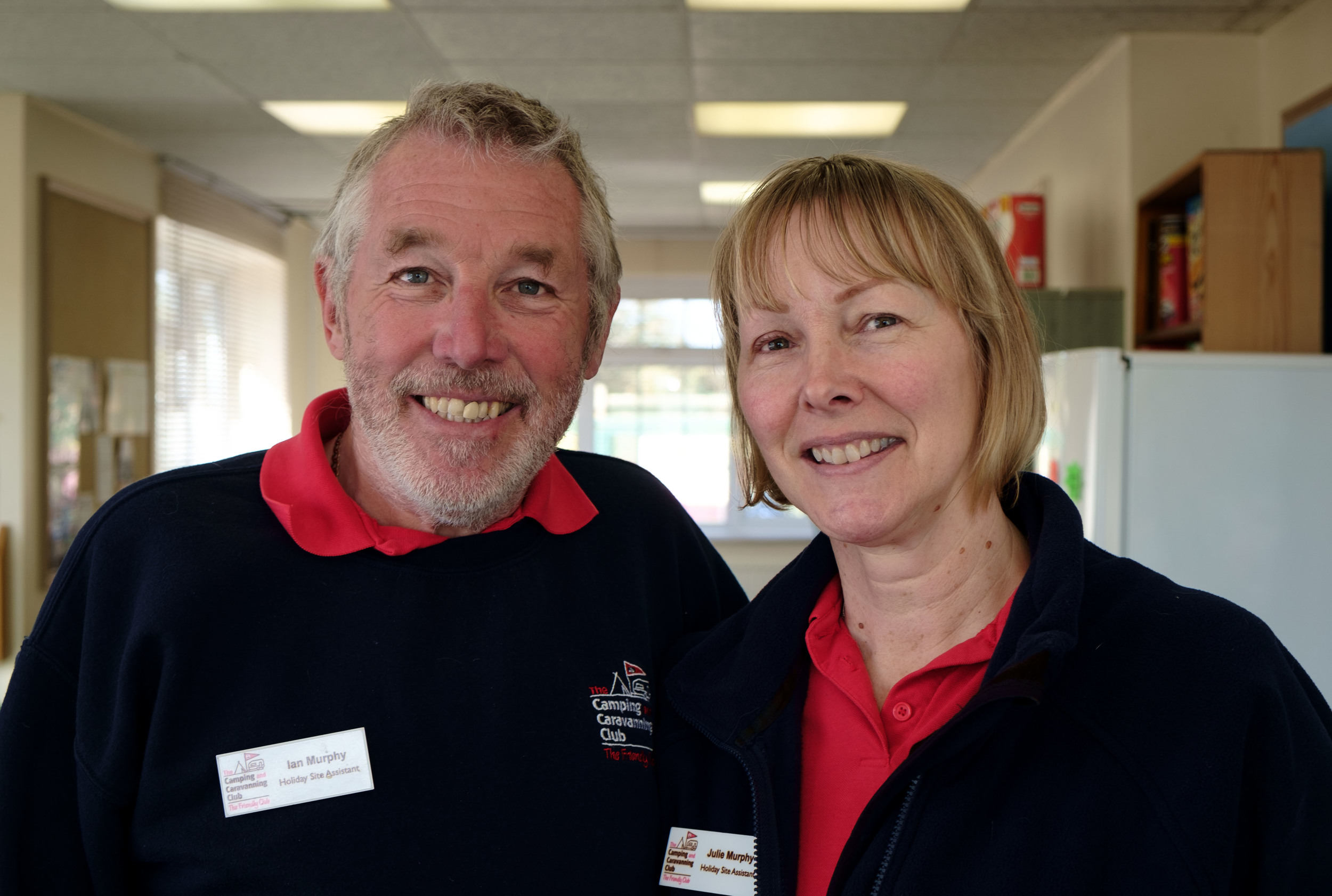 Ian et Julie, au Camping and Caravanning Club.