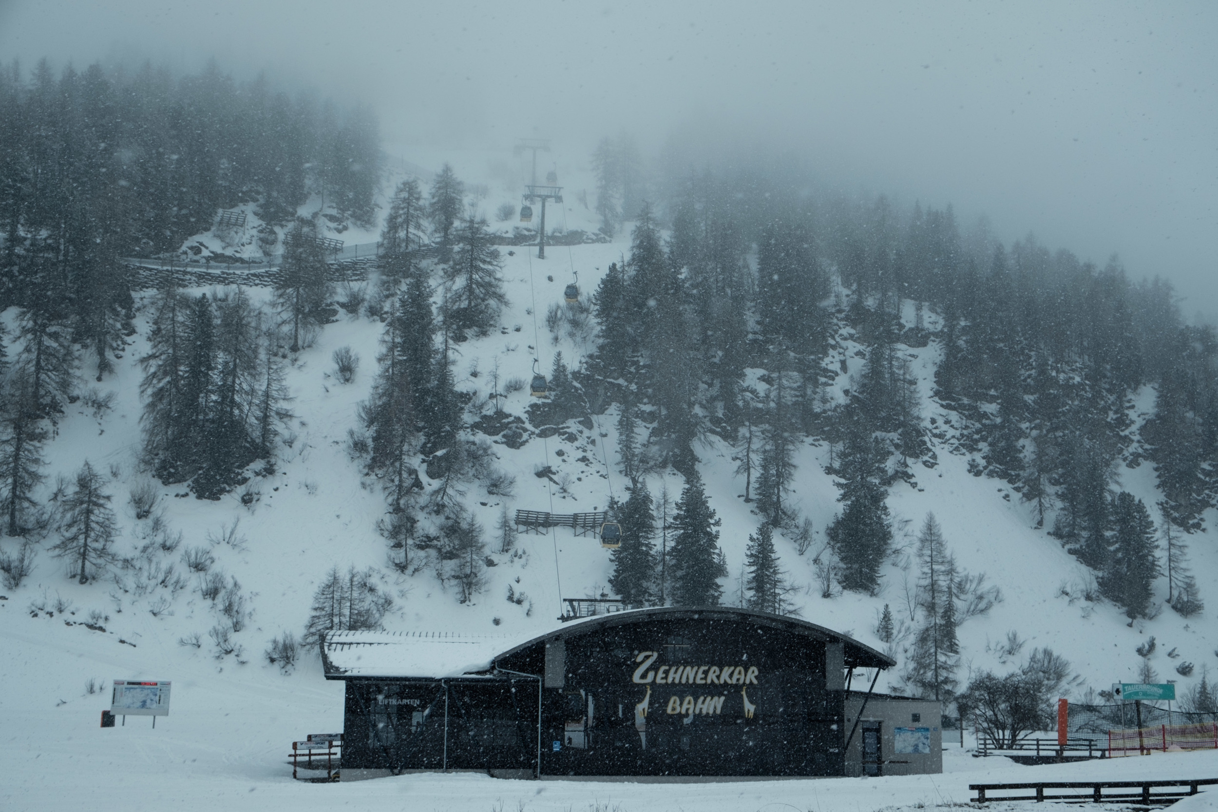 Certains centre de ski étaient encore en fonction!