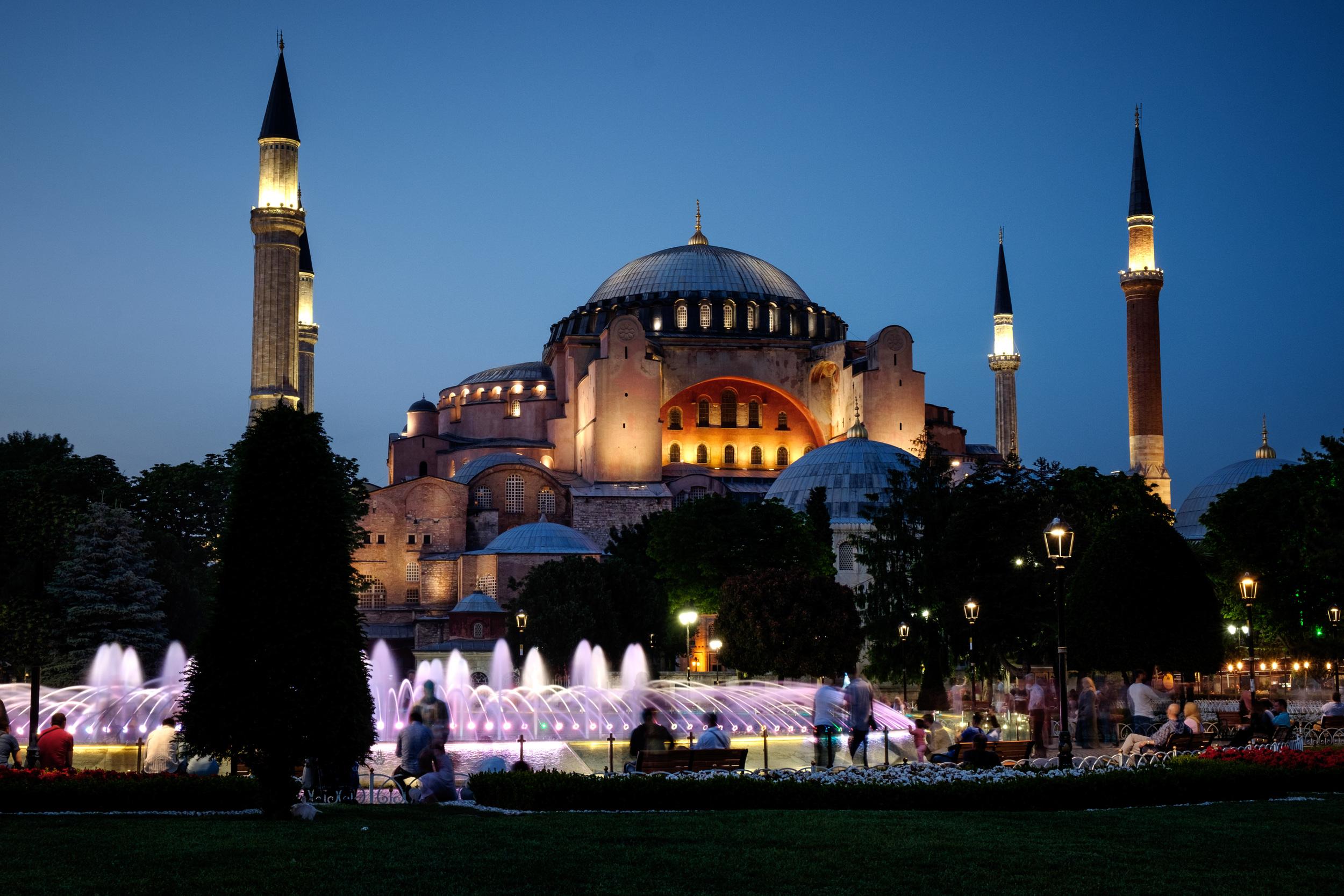 Le musée d'Hagia Sophia.