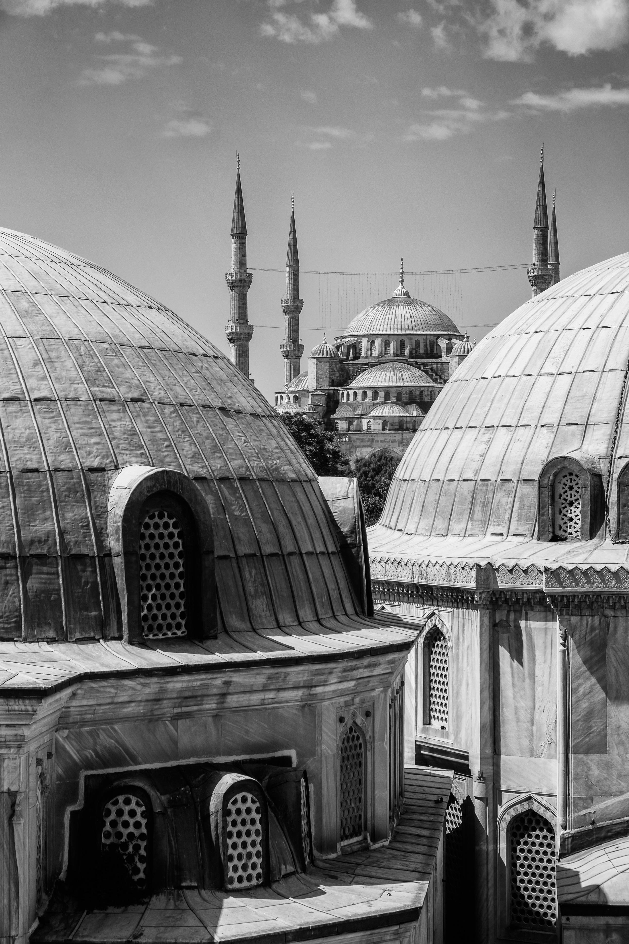 La mosquée bleue, vue d'Hagia Sophia.