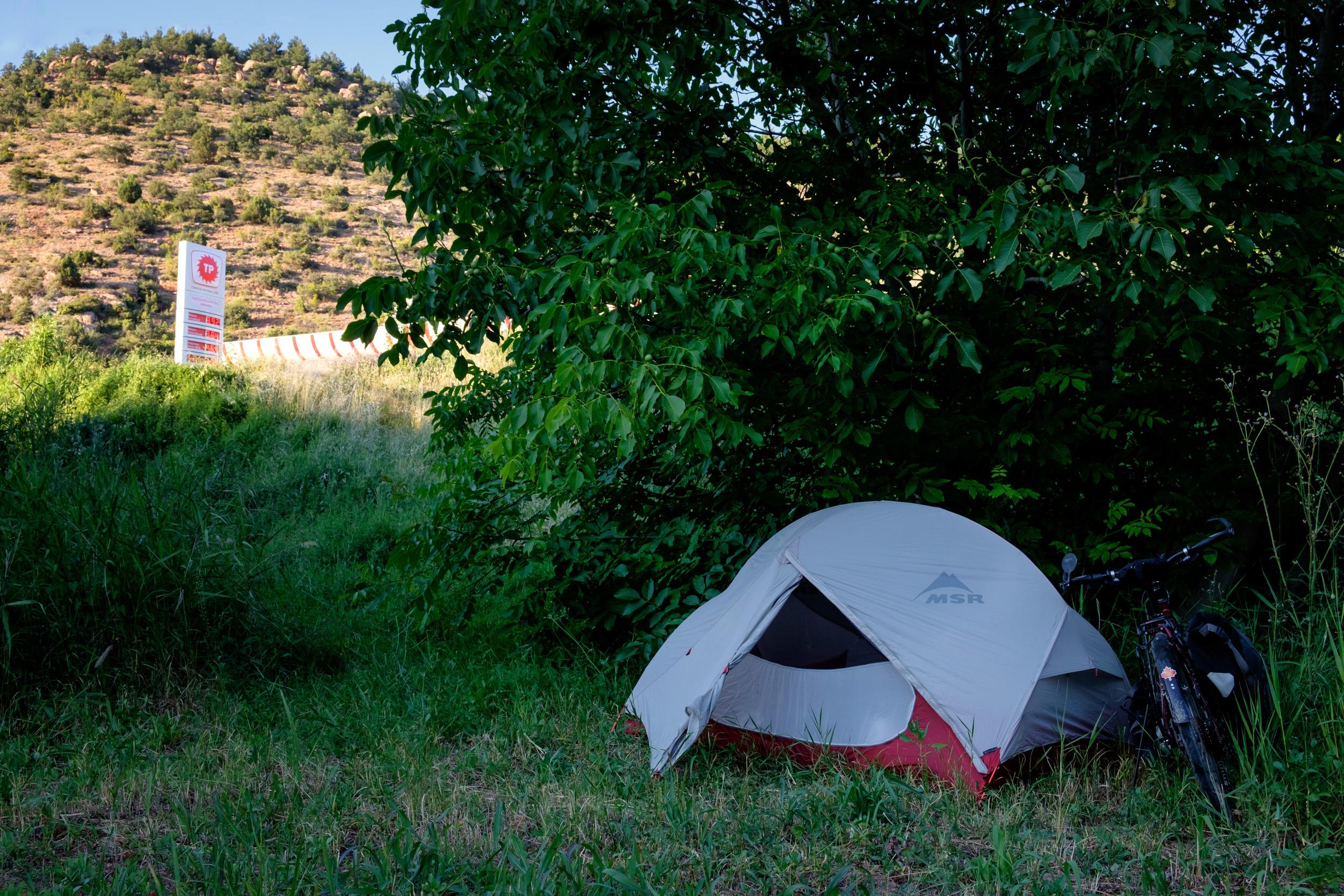 L'endroit où je capotais dans ma tente.