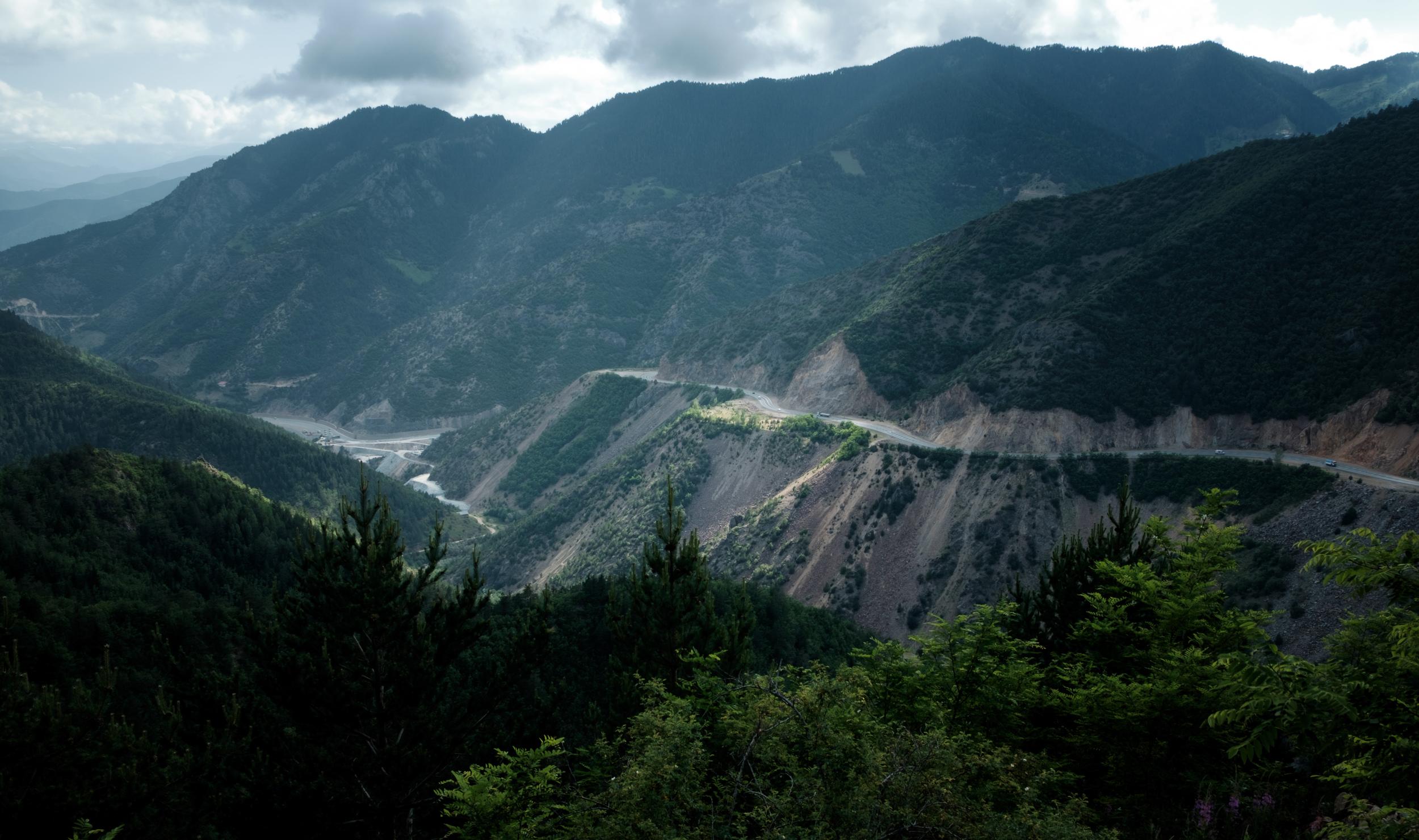 La traversée des montagnes.