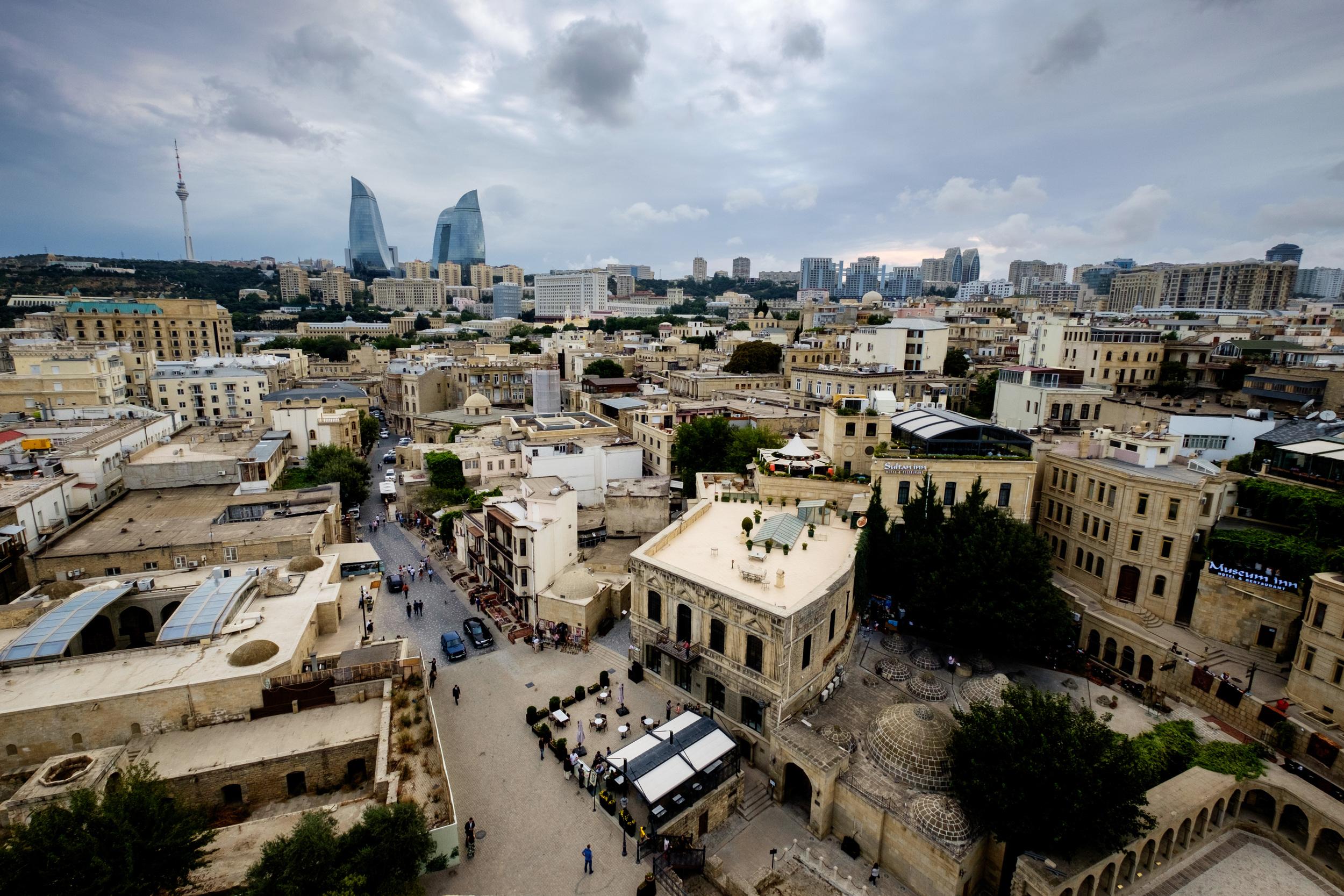 Le vieux Baku, vu de la Tour de la vierge.